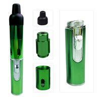 클릭 N vape sneak vape 흡연 금속 파이프가 내장 된 풍력 증거 토치 가벼운 BH711 BC가있는 건조한 허브 담배 용 휴대용 기화기