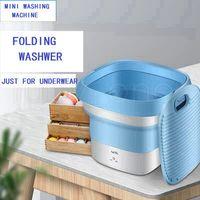 Mini Folding Washer Viagem portátil Máquina de lavar roupa PP Outdoor Viagem Camping Underwear Cleaner Máquina 2styles SEA shiping RRA3594