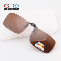 Sonnenbrille Brauner Polarisierter Clip auf Aviate Driving Sun Gläsern Brillen UV400 Goggles Brillen Unisex 3001-Braun