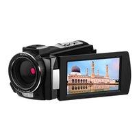 16x دليل التكبير المهنية 4K كاميرا الفيديو المحمولة مع عدسة زاوية واسعة شاشة تعمل باللمس كاميرا فيديو IR للرؤية الليلية مكافحة يهز HD