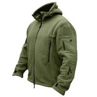 Gli uomini US Army termico di inverno giacca in pile tattico esterna Sport cappotto incappucciato Militar Softshell escursione esterni dell'esercito Giacche