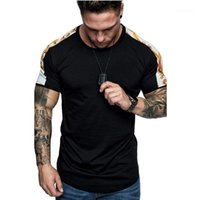 Люди вскользь Tshirts Цвет Matching Самцы Одежда Мода Printed Мужские Tshirts Летняя Crew Neck с коротким рукавом