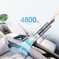 4800PA 75W 가정용 자동차 휴대용 진공 청소기 USB 충전식 무선 휴대용 미니 진공 청소기 집 청소 스위퍼