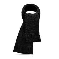 Winterschal Frauen Schal Männer Schals Zwei Seite Schwarz Rot Seide Wolle Decke Schals Mode Blume Schals
