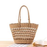 New oco saco de palha férias Um ombro Cesta vegetal na moda Straw Saco personalizado Bolsas por Mulheres 2020