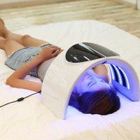 PDT أدى لون ضوء العلاج آلة الضوء الأزرق الأخضر الأصفر الفوتون الصمام قناع الوجه لتجديد شباب حب الشباب إزالة العلاج بالضوء المصباح استخدام سبا