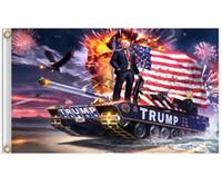 Bandera Trump colgantes 90 * 150cm Trump Keep America grandes banderas 3x5ft Digital Print Donald Trump 2020 Bandera de 20 colores Decoración Banner HHF1710