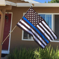 90 * 150cm Forze dell'Ordine di polizia USA US americano Thin Blue Line USA Flag con occhielli Home Decor 3x5 FT bandiera bandiere DHE943