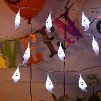 Halloween Light String 1.5 meters 10 lamps Ghost Spider Pumpkin Lamp String Ghost Festivals Atmosphere Decoration Led Light String VT1664-1