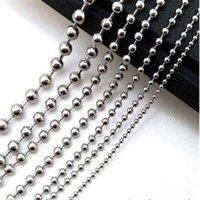 """1,5 / 2 / 2,4 / 3,2 millimetri calda in massa in acciaio inox Argento Perle di colore della catena della sfera collana 20/50 / 100pcs / Lot Gioielli fai da te all'ingrosso 16-40"""""""