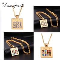 Dawapara judaica 12 tribos preenchido pingente colar antigo prateado / dourado religioso sobrenatural talismã amulet jóias
