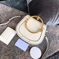 Été Nouveau Véritable métal selle paquet cuir Sac à main anneau en métal nil sac poignée sac Bracelet Femme Sacs à bandoulière Messenger Crossbody