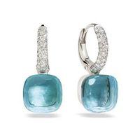 Classici 23 colori Crystal Candy Water Droplets Orecchini stile 3 orecchini a goccia di colore oro per le donne regalo moda gioielli (DJ1159) 200922