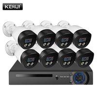 أنظمة Kerui 5MP HD 8CH سجل الوجه Poe Kits H.265 CCTV نظام الأمن AI IP كاميرا في الهواء الطلق للماء مراقبة الفيديو NVR