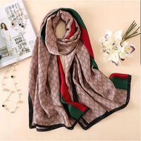 Марка Дизайнер шелковый шарф высокого качества Foulard Бандана Длинные Lrage Шали Wrpas Зимняя шарфы Lady Хиджаб 2020 Новый