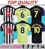 Masculino + infantil Kits 20 21 NUFC JOELINTON Newcastle United Camisas de futebol SHELVEY 2020 2021 ALMIRON RITCHIE GAYLE Equipment Camisa de futebol