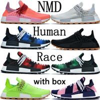 Race BBC NMD umana Pharrell Williams scarpe specie infinite respiro se sole calma pacchetto Solar Yellow HU Hue Uomo all'aperto scarpe da ginnastica in esecuzione