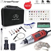 Broca New 260W Mini elétrica Gravador Rotary Power Tool Dremel polimento máquina de moer Carving gravura Pen Com Acessórios