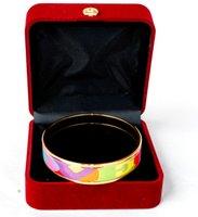 Renk Aşk Serisi 18 K Altın Kaplama Emaye Bileklik Bileklik Kadın En Kaliteli Bilezik Bilezik Genişliği 15mm Moda Düğün Takı