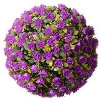 장식 꽃 화환 28cm 인공 장미 꽃 공 토핑 교수형 바구니 식물 자외선 방금 보호