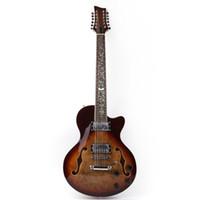 bonne qualité f trou de 12 cordes guitare électrique livraison gratuite