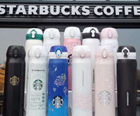The latest 20 styles of 16OZ Starbucks coffee cups in individual packaging boxes, Starbucks stainless steel cups, free shipping