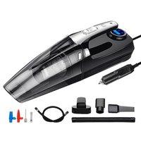 4 В 1 Автомобильный Портативный Wet / Dry Авто пылесос 12V 120W 4000Mpa С смарт-цифровой шины Надувное насос Манометр свет водить
