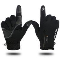 Осень Зима езда перчатки Открытый Мужчины Женщины Водонепроницаемый Нескользящие перчатки Мотоцикл перчатки Утолщенные Plus Velvet Термальный сенсорный экран VT1696