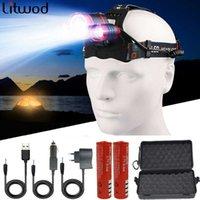 Headlamps XM-L T6 3 LED-Scheinwerfer 4 Modi HeadlightLamp Laterne Kopf Lichtlaterne Zoomable Wiederaufladbare 18650 Batterie Wasserdicht zum Angeln