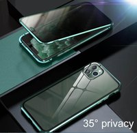 Privacy Magnetic Glass Phone Case Anti Peep Screen Protector...