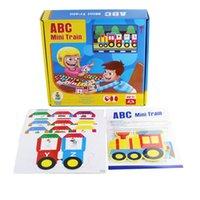 Englisch alphanumerischer Zug Intelligenz Kinder-Brettspiel Spielzeug Interesse Anbau Lernen