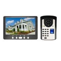 """Téléphones de porte vidéo Mot de passe d'empreinte digitale 7 """"Vidéophone mains libres avec caméra Home Office interphone Smart Bell Téléphone"""
