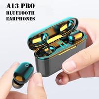 Yeni A13 Pro Bluetooth 5.0 Kulaklık Kablosuz Stereo Spor Mikrofon ile Su Geçirmez Kulakiçi 2200mAh LED Ekran Kulaklıklar