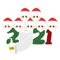 2020 ملصقات عيد الميلاد زخرفة الحجر ملصقا الأسرة ملصقات حزب جدار النافذة الرئيسية الأوسمة صالح هدايا للأطفال لعبة الكرتون F91207