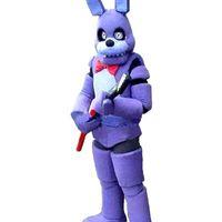 2019 Fábrica de venda quentes cinco noites no Freddy FNAF Toy assustador roxo do coelho traje mascote Suit Halloween Christmas Dress aniversário