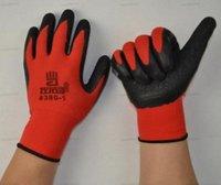NEW Black Latex покрытием Красный хлопок рабочие перчатки перчатки