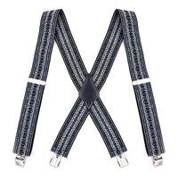 Mens Vintage Bretelle Bretelle suspensorio tirantes hombre para pantalones mannen bretels X-figura posteriore 4 clip metalliche