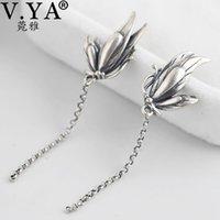 V.YA Vintage-S925 Sterlingsilber-Schmetterlings-Ohrringe für Frauen Lange Troddel Ohrstecker Frauen-Geschenk