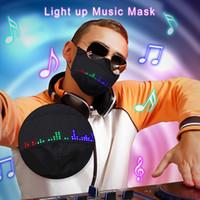 2020 Bluetooth Control App Control Унисекс Светодиодная Rave Mask Mask Image Text Animation Редактируемая Света Маска USB Перезаряжается Для Сторон X'mas Halloween
