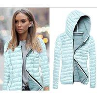 Kadın Ceketler StainLizard Bahar Sonbahar Ceket Kadınlar Ince Kış Mont Bayanlar için Fermuar Dış Giyim Kadın Giyim Kapşonlu JT599