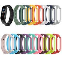 Pour Xiaomi MI Bande 5 6 Bracelet de bracelet en silicone Strap de remplacement Bracelet de bracelet TPU souple Miband 5 NFC Bracelet poignet 100 pcs / lot