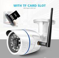 2020 HD 1080P sans fil IP caméra WIFI extérieur ONVIF CCTV Video Home Sécurité Caméra Bullet fente pour carte TF Night Vision APP CAMHI rapide DHL