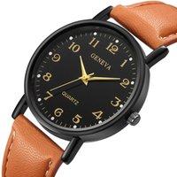 Banda minimalista caliente Saats envío de la gota Hombres Mujeres top reloj de la marca de Ginebra señoras de la moda casual reloj del cuero del relogio feminino