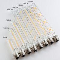 Vintage Edison Lampe Ampoules LED E27 3W 4W 5W 6W 8W 220V pour la décoration à la maison Blanc chaud 2700k Verre ampoule longue