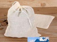 Packtaschen 500 stücke Baumwolle Muslin Kordelzug-Sieb Tee Gewürz Fruchtsaft Lebensmittel Separater Filter für Trinkwerkzeuge Fabrikpreis Experte Design Qualität Neueste