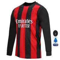 AC milan 20 21 soccer jersey manches longues IBRAHIMOVIC Paqueta BENNACER ROMAGNOLI Calhanoglu 2020 chemise de football THEO Rebic kit de maillot hommes
