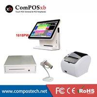 Günstige Flat Screen-Terminal 15 Zoll Touch-Screen-System mit Bargeldschublade Thermodrucker Barcode-Scanner