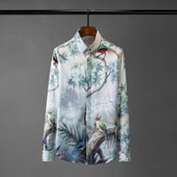 Shirts Neue Männer Luxus Digital Alle Printed Langarm-Partei Mens Dress Shirts plus Größe 4xl Art und Weise dünnen beiläufigen Mann