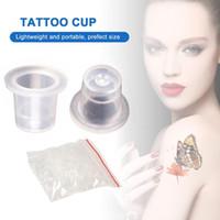 100pcs Caps Professional Tattoo encre pigmentée Coupe Petite Moyenne transparent de haute qualité à usage unique Tattoo Supply Accessoires