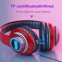 + Kablosuz Bluetooth Kulaklıklar Oyun Kulaklık Stereo Müzik Destek Kartı MIC Katlanabilir Kafa Stüdyosu Kulaklık Ile TF Kart